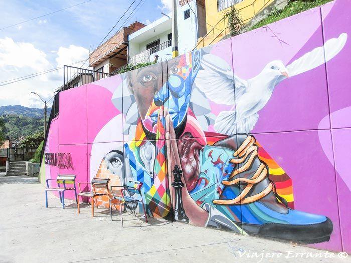 Mural de la comuna 13 en Medellín