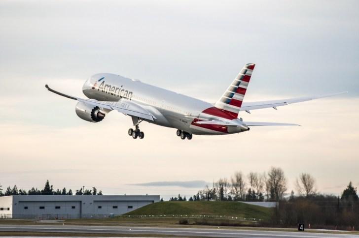 Vuelo de prueba del primer Boeing 787-8 Dreamliner de American Airlines (Foto de AA)