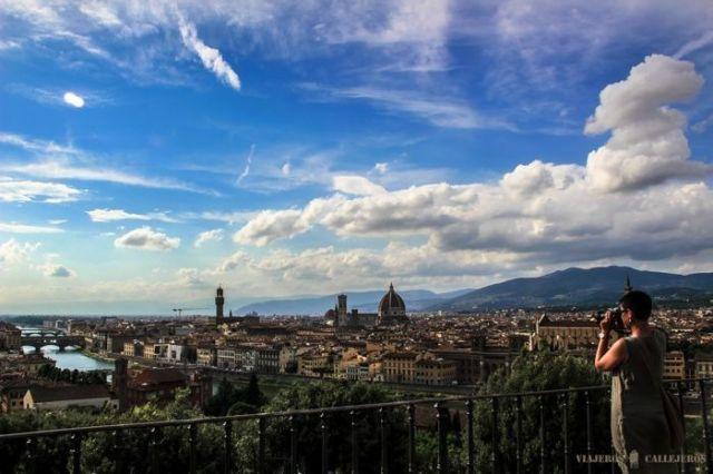 Florencia desde la Piazza Michelangelo