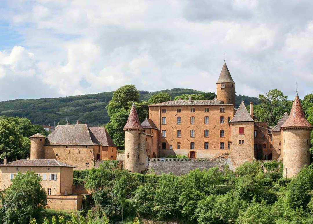 Castle of Jarnioux in Beaujolais.