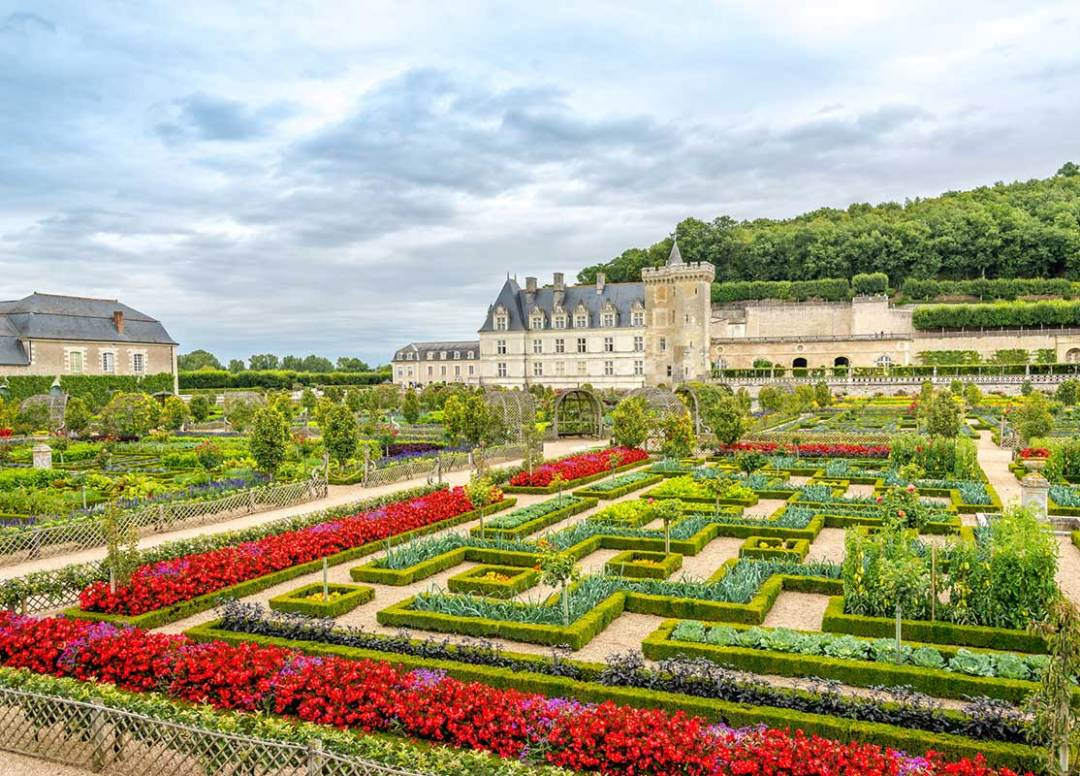 Gardens of a Loire castle