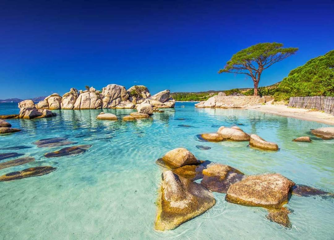 A beautiful beach in Corsica