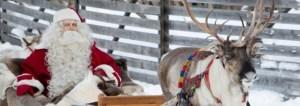 Papa noel en finlandia con reno