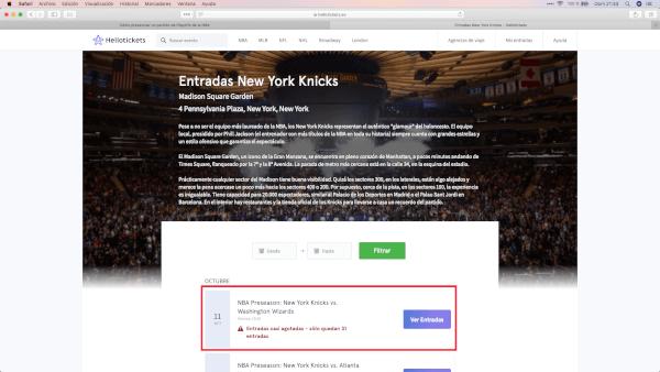 Cómo comprar entradas NBA baratas para Nueva York y todo USA