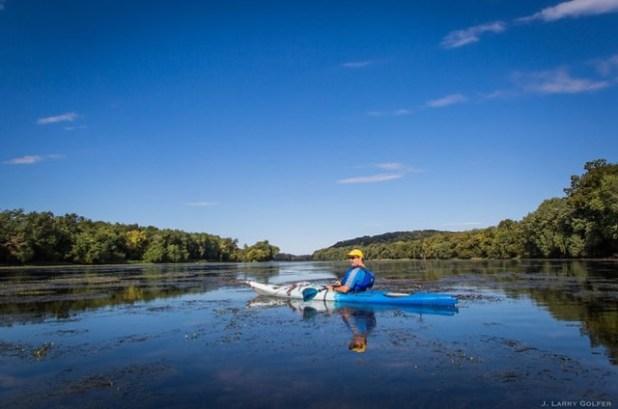 Kayak en el río Potomac