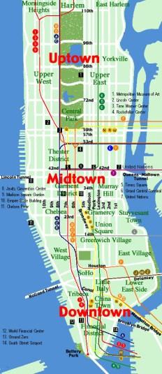 Mapa Manhattan Barrios