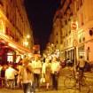 barrio latino de noche en Paris