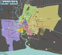 Mapa de Bangkok