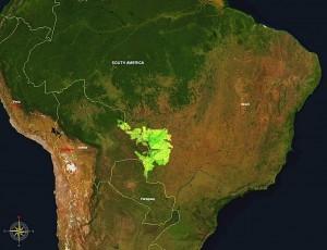 ¿dónde está El pantanal de Brasil?
