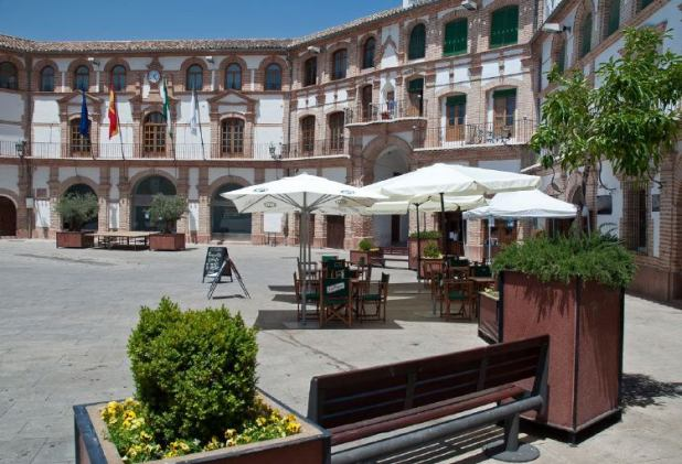 Plaza Ochavada en Málaga