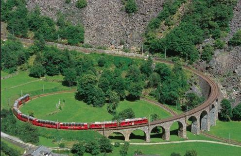 Bernina express railway
