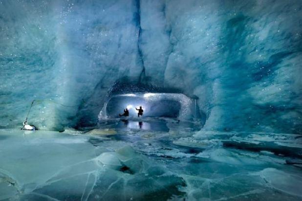 Ice pavilion en Ice Grotto de Mittelallal
