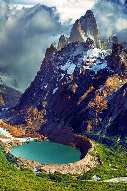 Monte Fitz Roy en Argentina (lugares maravillosos)