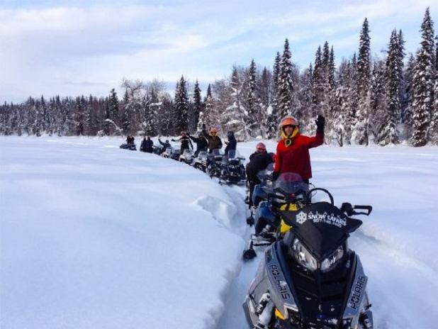 Excursiones en moto esqui en Alaska