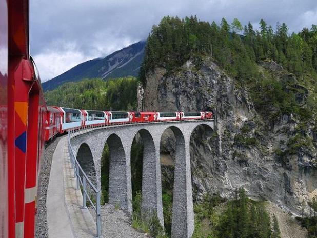 Glaciar Express de Suiza