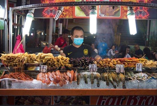 Comida callejera en Singapur