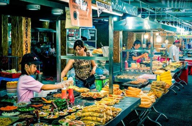 Comida callejera en vietnam. Phu Quoc,
