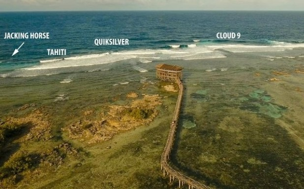 Punto escenico Cloud Nine surf Siargao Filipinas