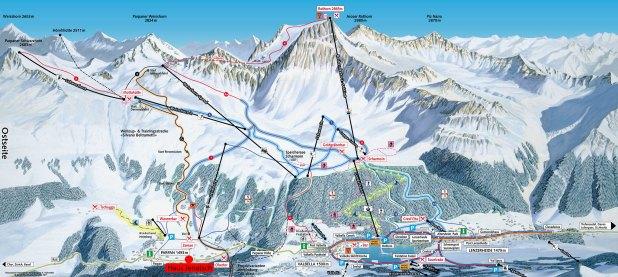 Mapa de pistas de esquí de Arosa Lenzerheide