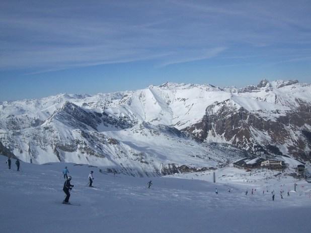 Esquiando en Mayrhofen (Austria)