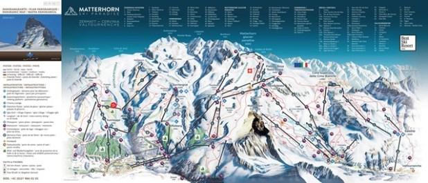 Mapa de Zermatt