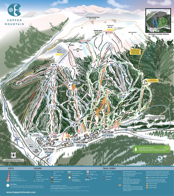 Copper Mountain mapa pistas