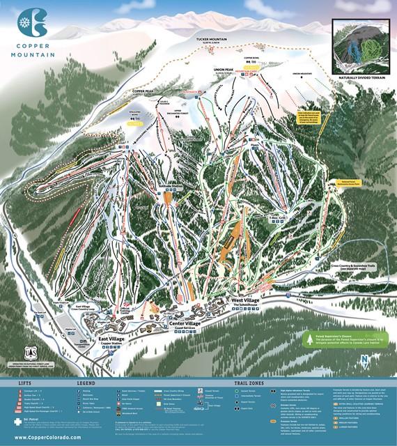 Copper Mountain mapa pistas