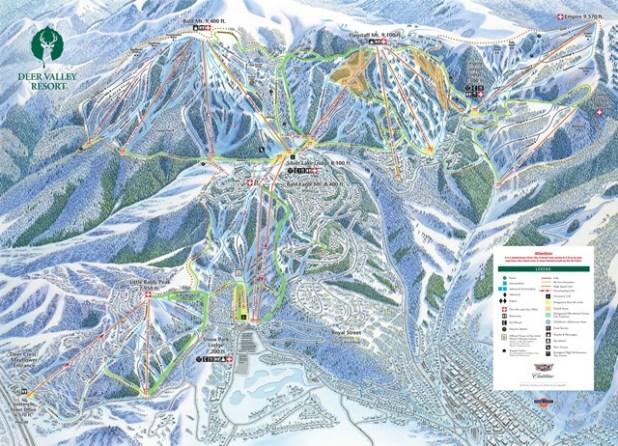 Mapa de pistas de esquí de Deer Valley (Utah)