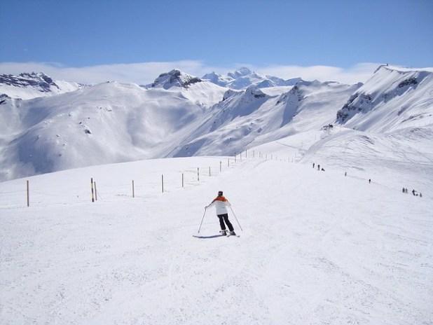 Esquiando en Le Carroz