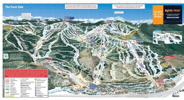 Mapa de pistas de Colorado