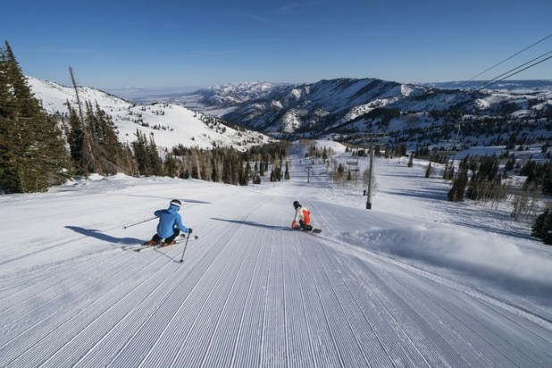Esquiando en Powder Mountain (Utah)