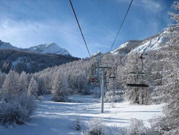 Esquiando en Serre Chevalier
