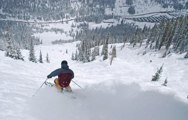 Esquiando en Arapahoe Basin
