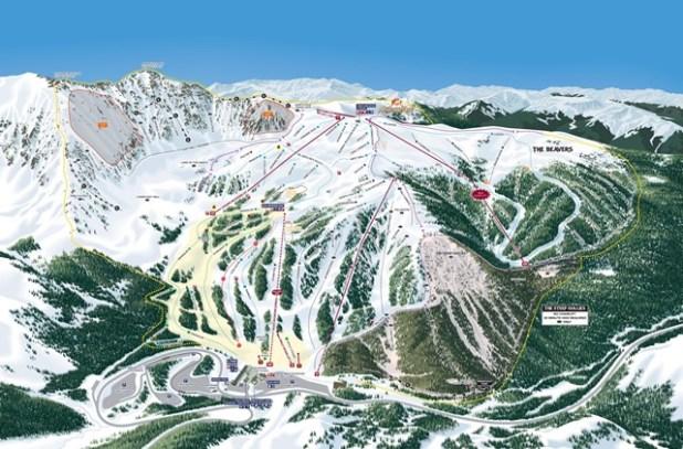Mapa de pistas de Esquí en Arapahoe Basin
