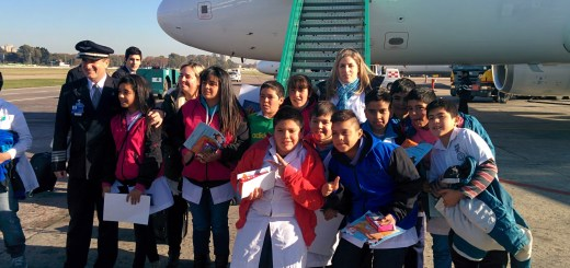 Llegada de los chicos a Aeroparque
