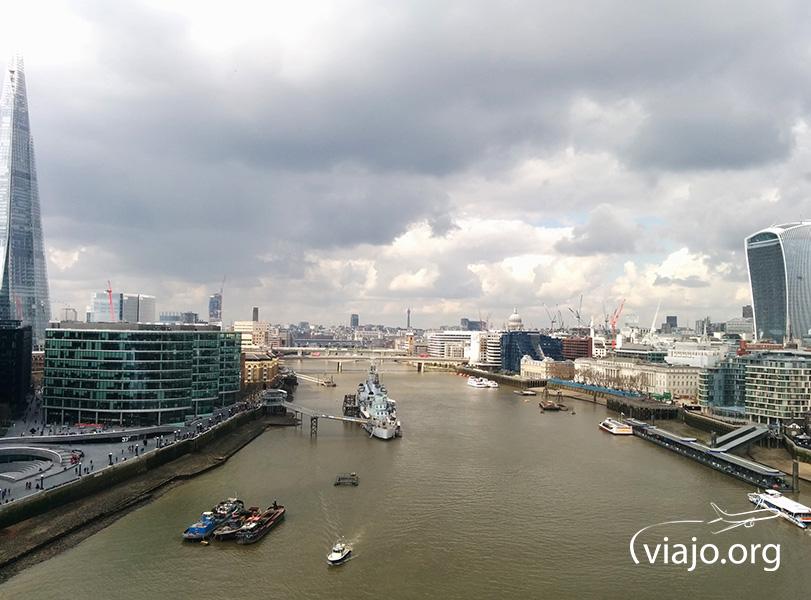 Vista de la ciudad desde el Tower Bridge