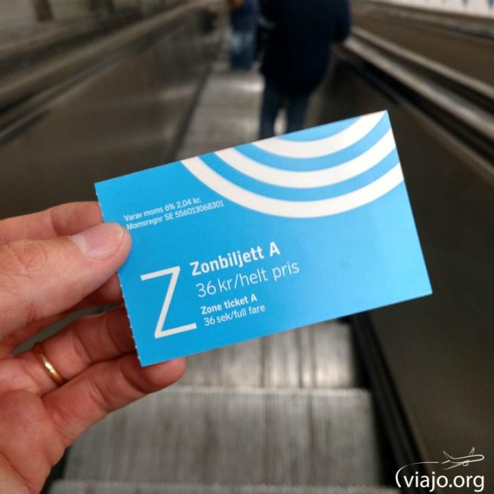 Ticket del Metro de Estocolmo