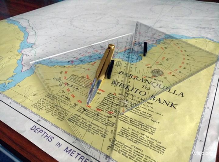 Monarch - Mapa en el Puente de Mando