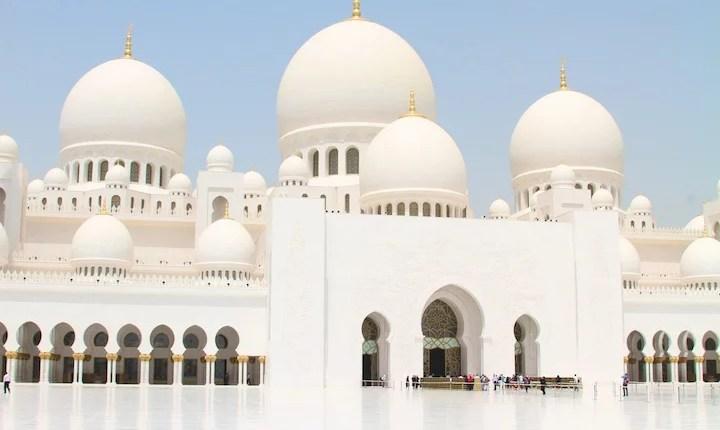 Abódodas da Mesquita de Abu Dhab