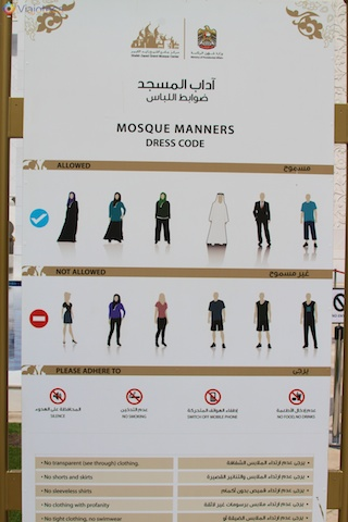 Dress Code da Mesquita de Abu Dhabi