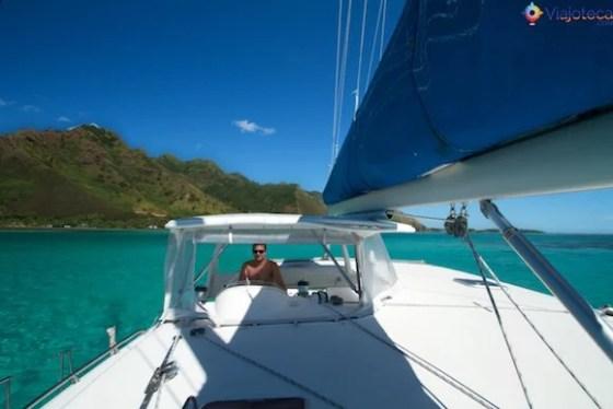 Catamaran em Moorea
