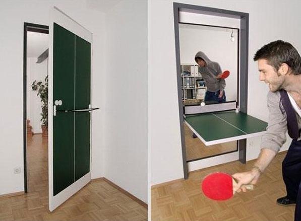 Puerta convertible en ping pong