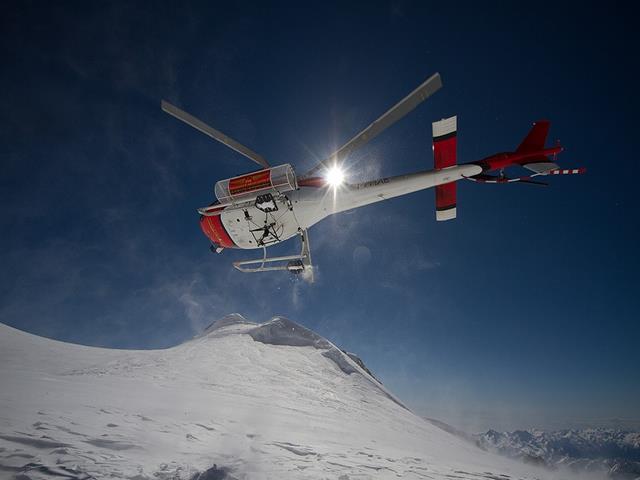 Helicóptero en ski