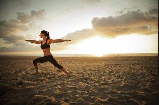 Postura del guerrero en Yoga