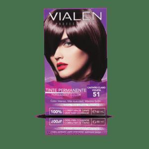 Vialen Tinte Permanente Color Castaño Claro Violeta 51