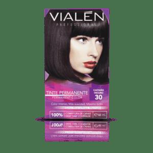 Vialen Tinte Permanente Color Castaño Oscuro 30