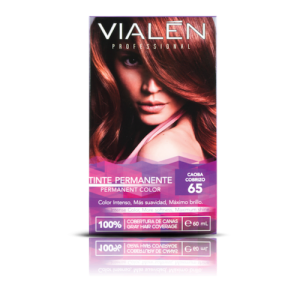 Vialen Tinte Permanente Color Caoba Cobrizo 65