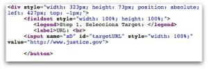 Exemplo de código JavaScript
