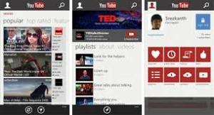 App do Youtube para Windows Phone