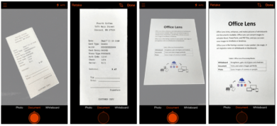 App de digitalização Office Lens para iOS e Android